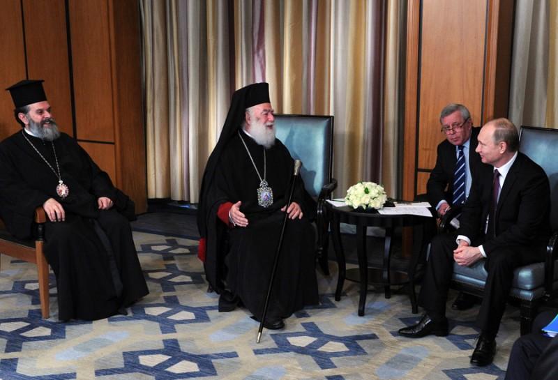 Συνάντηση Πατριάρχη Αλεξανδρείας Θεοδώρου με Ρώσο Πρόεδρο Πούτιν