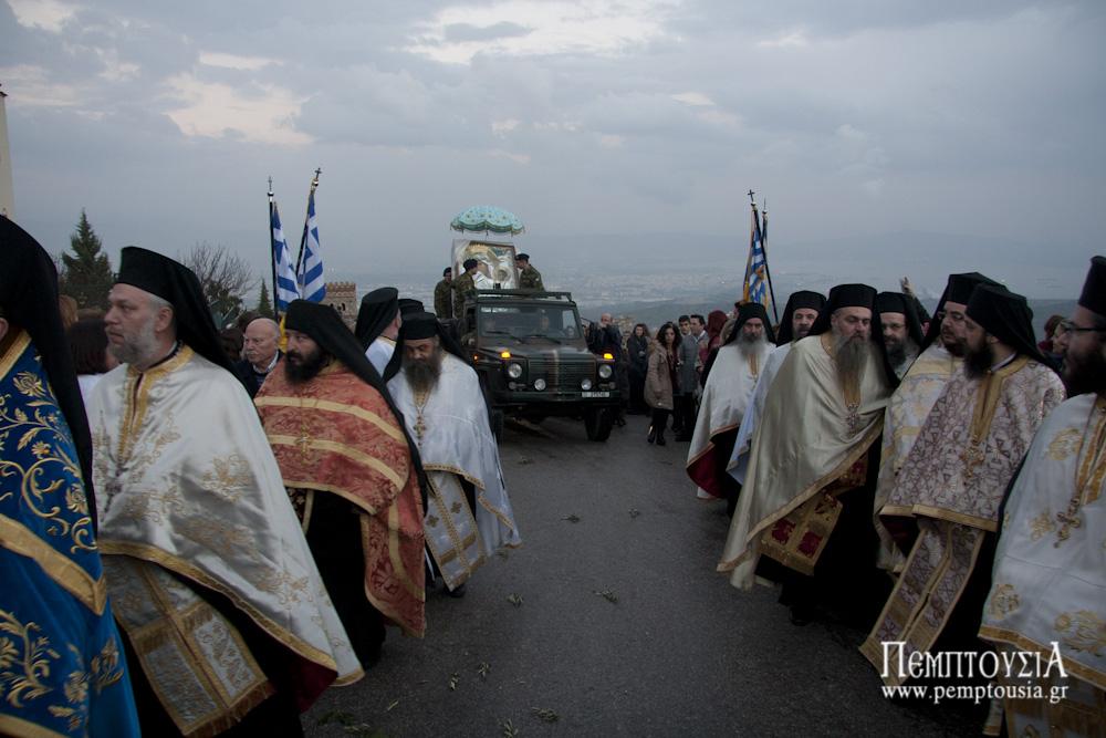 ΙΑΝΟΥΑΡΙΟΣ 2015 Με τιμές η υποδοχή του αντιγράφου της Παναγίας Παραμυθίας στην Μάνδρα Αττικής