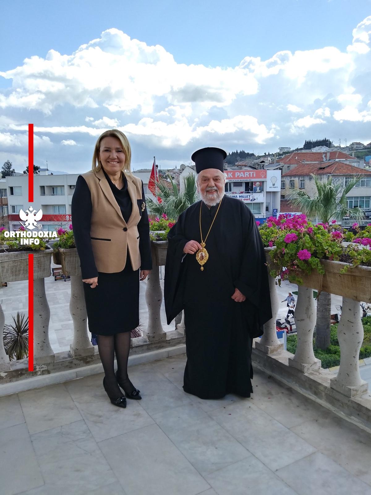Με τη Δήμαρχο Βουρλών κ. Sibel Uyar