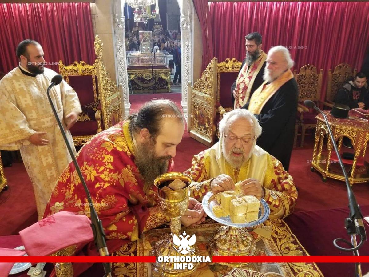 Ο μητροπολίτης Βρυούλων στον ναό του αγίου Δημητρίου Θεσσαλονίκης
