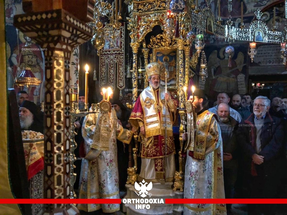 ORTHODOXIA INFO | Αγρυπνία στην μονή Φιλοθέου για τη γιορτή του Ευαγγελισμού