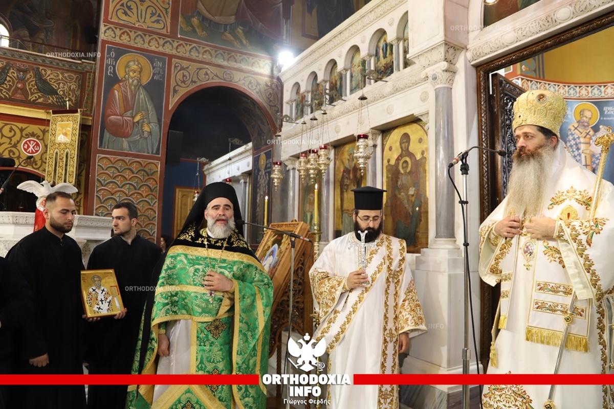 ΟΡΘΟΔΟΞΙΑ INFO   Ο επίσκοπος Θεσπιών στην αγία Βαρβάρα Δάφνης