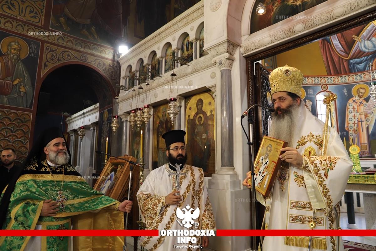 ΟΡΘΟΔΟΞΙΑ INFO | Ο επίσκοπος Θεσπιών στην αγία Βαρβάρα Δάφνης