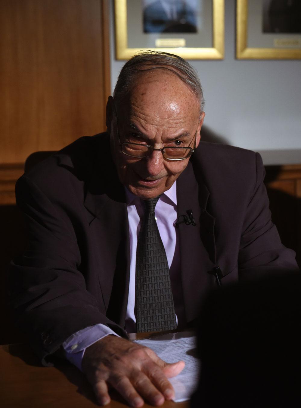 Ο καθηγητής δρ. Βλάσιος Φειδάς (photo:orthodoxia.info/Χρήστος Λαρισαίος)